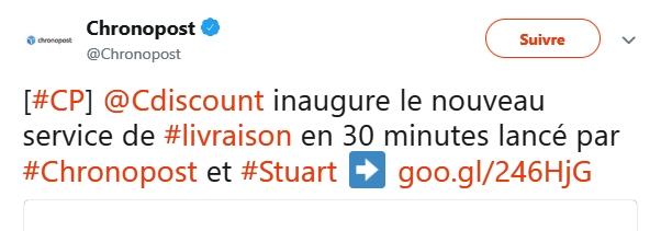 Cdiscount tweet