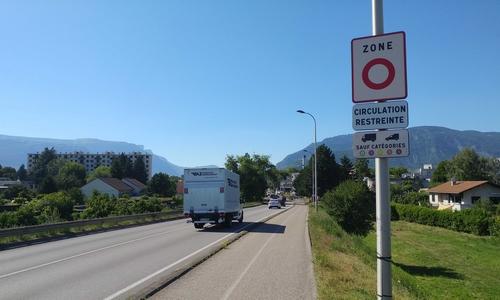 Panneau ZFE Grenoble